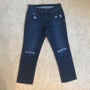 Mango Distressed Boyfriend Jeans Size 6